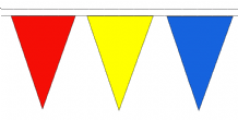 Multicoloured Traditional 10m 24 Flag Polyester Smaller Triangle Flag Bunting